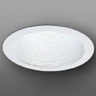 Elco ELM30WOV Contemporary White Medium Base 6  Recessed Light Metal Baffle Oversized Ring Trim