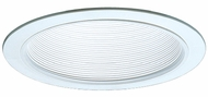 Elco ELM40W Contemporary White Medium Base 6  Recessed Lighting Metal Stepped Baffle Trim