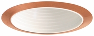 Elco ELP530WCP Contemporary White with Copper Medium Base 5  Recessed Light Stepped Baffle Trim