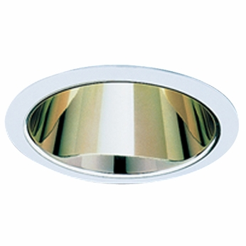 Elco ELS520G Modern Gold with White Medium Base 5 Recessed Light Specular Reflector Trim