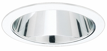Elco ELS530KC Modern Clear with Clear Medium Base 5 Recessed Lighting Specular Reflector Trim (with Bracket)