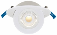 Elco ERT416CT5W Elm System Contemporary White LED 4 Floating Adjustable Eyeball Downlight with 5-CCT Switch Recessed Lighting