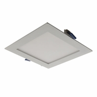 Elco ERT661W White LED Indoor / Outdoor 6  Square Ultra Slim Panel Ceiling Lighting Fixture