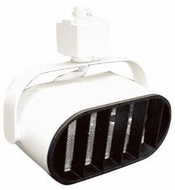 Elco ET668W Track Heads Modern White Halogen 120V Line Voltage Wall Wash with Louver