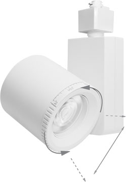 Elco Et75830dw Bachman Contemporary White Led Small Home Track Lighting Head