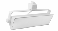 Elco ETW42CT3W Pipe Contemporary White LED Track Lighting Fixture Head
