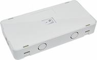 Elco EUDJBX Sage Modern White Junction Box with on/off Switch