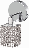 Elegant 1281W-R-S-CL-RC Mini Royal Cut Chrome Sconce Lighting