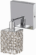 Elegant 1281W-S-S-CL-RC Mini Royal Cut Chrome Wall Sconce Lighting