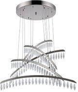 Elegant 1522G32PN-SS Marquesa Polished Nickel LED Multi Hanging Lamp