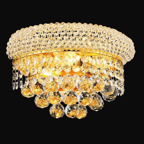 Elegant 1800w12g Rc Primo Small Gold Crystal Wall Sconce Loading Zoom