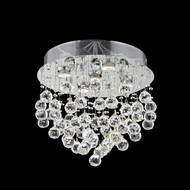 Elegant 2006F16C-RC Galaxy Chrome Finish 16  Tall Flush Mount Light Fixture