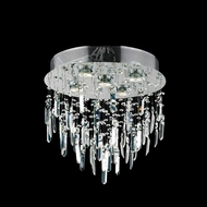 Elegant 2006F16SC-RC Galaxy Chrome Finish 16  Wide Flush Mount Lighting Fixture