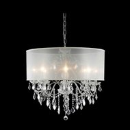 Elegant 2015D26C-RC-SH St. Francis Crystal Chrome Finish 23  Tall Ceiling Chandelier