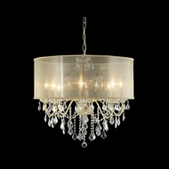 Elegant 2015D26G-RC-SH St. Francis Crystal Gold Finish 23  Tall Chandelier Light