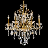 Elegant 2016D24G-RC St. Francis Classic Gold Crystal Dining Chandelier