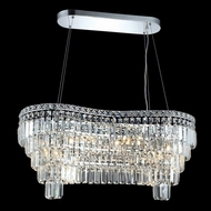 Elegant 2019D32C-RC Maxim 32  10-light Exquisite Crystal Island Lighting Chandelier