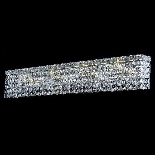 Elegant 2033W30C-RC Maxim Crystal Chrome Medium 7-light Vanity ...