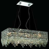 Elegant 2035D28C-RC Maxim 28  Medium Crystal Squares Kitchen Island Light