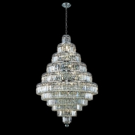 Elegant 2038D32C-RC Maxim 30-light 32 Chrome Large Chandelier with Clear Crystal