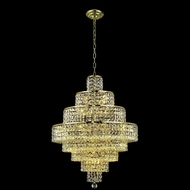 Elegant 2039D26G-RC Maxim 26 18-light Gold Chandelier with Crystal