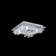 Elegant 2095F18C-EC Karma Chrome Finish 18  Wide Overhead Lighting Fixture