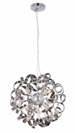Elegant 2104D18C Ritz Contemporary Chrome Halogen 18  Drop Lighting