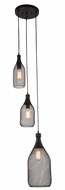 Elegant 2109D13BK Brighton Black Pendant Light Fixture