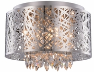 Elegant 2113DF16C-RC Finley Chrome Halogen 16  Ceiling Lighting / Hanging Pendant Lighting