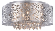 Elegant 2113DF24C-RC Finley Chrome Halogen 24  Ceiling Light Fixture / Pendant Hanging Light