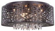 Elegant 2113DF24MDB-RC Finley Matte Dark Brown Halogen 24  Ceiling Lighting Fixture / Hanging Light Fixture