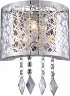 Elegant 2113W8C-RC Finley Chrome Halogen Wall Light Fixture