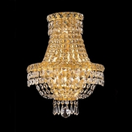 Elegant 2528W12G-RC Tranquil Crystal Gold Wall Sconce Lighting