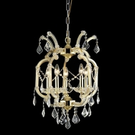 Elegant 2800D15G-RC Maria Theresa Gold Finish 15.5 Wide Mini Ceiling Chandelier