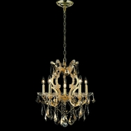 Elegant 2800D20G-GT-RC Maria Theresa Golden Teak Crystal Candle Chandelier with Gold Finish