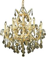 Elegant 2800D27G-GT-RC Maria Theresa Gold Ceiling Chandelier