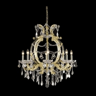 Elegant 2800D28G-RC Maria Theresa Gold Finish 28.5  Wide Lighting Chandelier
