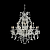 Elegant 2800D33C-RC Maria Theresa Chrome Finish 35.4  Tall Ceiling Chandelier