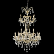 Elegant 2800G32G-RC Maria Theresa Gold Finish 50 Tall Hanging Chandelier