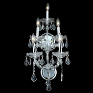 Elegant 2800W5C-RC Maria Theresa Traditional Chrome 5 Candle Crystal Wall Lighting