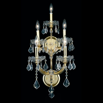 Elegant 2800w5g Rc Maria Theresa Classic Crystal Candle Wall Sconce Gold Ele 2800w5g Rc