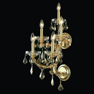 Elegant 2800W5GT-GT-RC Maria Theresa Golden Teak Finish 29.5  Tall Wall Lighting Sconce