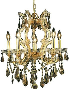 Elegant 2801D20G-GT-RC Maria Theresa Gold Ceiling Chandelier