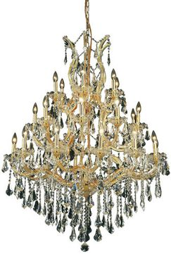 Elegant 2801D38G-RC Maria Theresa Gold Chandelier Lamp