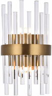 Elegant 3000W8G Dallas Gold & Clear Wall Mounted Lamp