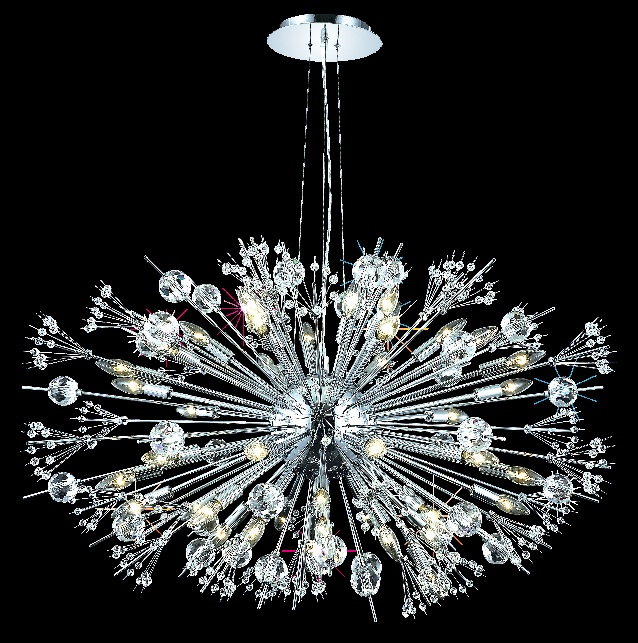 Elegant 3400g46c Ec Cyclone Extra Large 44 Light Contemporary Crystal Chandelier