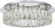 Elegant 3503F18C Monroe Chrome LED Flush Lighting