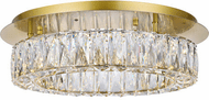 Elegant 3503F18G Monroe Gold LED Ceiling Light Fixture
