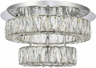 Elegant 3503F18L2C Monroe Chrome LED Flush Mount Lighting