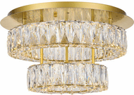 Elegant 3503F18L2G Monroe Gold LED Overhead Lighting